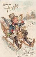 2 Goldprägekarten - Glückwünsche Zum Neuen Jahr             (A-143-190530) - Anno Nuovo