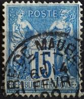-Sage N°90 Type Ll O (.CAD) GARE DE MAUBEUGE. - 1876-1898 Sage (Type II)