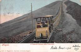 NAPOLI - IL VESUVIO-CARROZZA DELLA FUNICOLARE - POSTED 1906 ~ A 113 YEAR OLD POSTCARD #9G02 - Napoli (Naples)