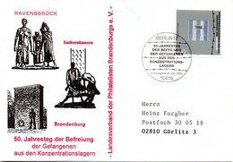 """(WK2-1) BRD Schmuck-FDC """"25. Jahrestag Der Befreiung Der Gefangenen Aus Den KZ"""" Mi.1796  ESSt 5.5.1995 BERLIN 12 - [7] Repubblica Federale"""