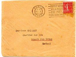 PARIS DEPART 1928 =  FLAMME FLIER ' Portez Votre Courrier A La Poste Des Qu'il Est Pret' - Marcofilia (sobres)