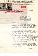 74- ANNECY - RARE LETTRE COMPAGNIE GENERALE DE METROLOGIE- CHEMIN DE LA CROIX ROUGE- 1953 - Old Professions