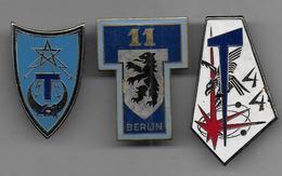 Lot De 3 Insignes Militaires - Unclassified