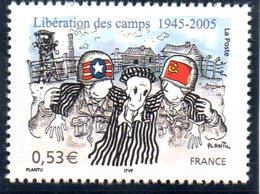 """(2WK-1) Frankreich Mi. 3932, """"WWII - 60 Jahre KZ-Befreiung""""  ** Postfrisch - Francia"""