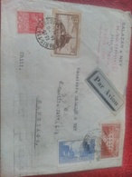 Belle Enveloppe Recommandée Pont Du Gard à Destinaton Du Chili. Au Verso Cachet Rare Poste Aérienne Paris Bureau 119. - Poststempel (Briefe)