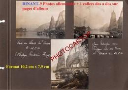 DINANT-9x PHOTOS Allemandes + 1 Anseremme Collees Sur Page D'album-Guerre 14-18-1WK-BELGIQUE-BELGIEN- - Dinant