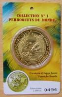 Médaille Touristique Cacatoes à Huppe Jaune 2010 Sous Encart - Arthus Bertrand