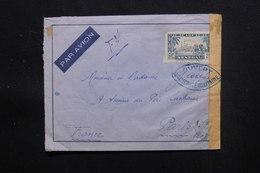 SÉNÉGAL - Enveloppe Pour Paris En FM Avec Contrôle Postal - L 48609 - Sénégal (1887-1944)