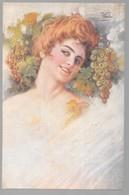 Cpa...illustrateur Italien...Vecchi .F...art Nouveau...femme élégante ... - Illustratoren & Fotografen