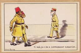 ILL446 Illustrateur GAVIS D' ERCURAZ  Humour Colonial Ti Vois ça Y En A Commandant PURGATION 1940s Série M-75 P.C PARIS - Other Illustrators