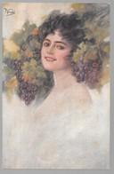Cpa...illustrateur Italien...Vecchi .F...art Nouveau...femme élégante ... - Künstlerkarten