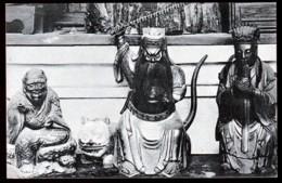 RARE CPA ANCIENNE CHINE- JOSS IN SHANGHAÏ TEMPLE- TRES GROS PLAN- ACTEURS COSTUMÉS- - China