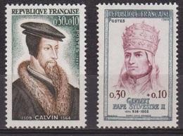 Religion - Jean Calvin - FRANCE - Pape Sylvestre II - N° 1420-1421 * - 1964 - Nuovi