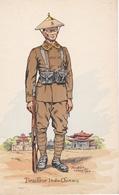TIRAILLEUR INDO-CHINOIS  N°386 Illustrateur Pierre Albert LEROUX (1890-1959) - Uniformen