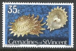 Grenadines Of St Vincent. 1974 Shells And Molluscs. 35c MH. (1977 Date Imprint) SG 47A - St.Vincent & Grenadines