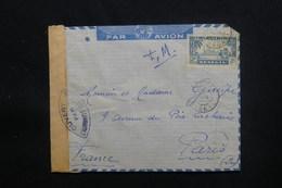 SÉNÉGAL - Enveloppe De Dakar En FM Par Avion Pour Paris Avec Contrôle Postal - L 48614 - Sénégal (1887-1944)