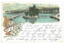 EL 04 - 17052 GENEVE, Litho, Switzerland - Old Postcard - Used - 1897 - GE Geneva