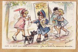 ILL531 Germaine BOURET L' Homme Sandwich Indefrisable TOTO 1945s Affectation Militaire 54em Cie Q.G.A-T.O.A.S Besancon - Bouret, Germaine