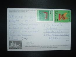 CP Pour La FRANCE TP K 5 + TP K 30 OBL. - Myanmar (Birmanie 1948-...)