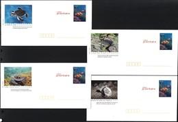 France Vers 2005. 4 Entiers Postaux Prêt-à-poster Tortues - Turtles