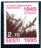 """(2WK-1) Estland Mi. 254 """"EUROPA - WWII 50 Jahre Befreiung Der Konzentrationslager""""  ** Postfrisch - Estonia"""