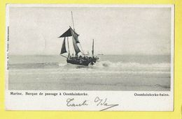 * Oostduinkerke (Kust - Littoral) * (Editeur Eloy Thieren) Marine, Barque De Passage, Bateau, Plage, Beacht, Strand, TOP - Oostduinkerke