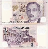 SINGAPORE       2 Dollars       P-46h       ND (ca. 2013)       UNC  [solid Star On Reverse] - Singapur