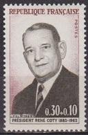 René Coty - FRANCE - Président De La République Française - N° 1412 ** - 1964 - Nuovi