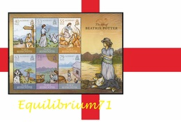 Alderney 2013 - The Life Of Beatrix Potter (Peter Rabbit, Benjamin Bunny, Jemima Puddleduck ...) - Alderney