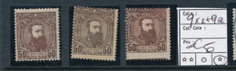 BELGIAN CONGO 1887 ISSUE COB 9 X2 + 9a LH - Belgisch-Kongo