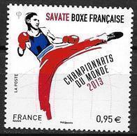 France 2013 N° 4831 Neuf Championnat Du Monde De Boxe Française  à La Faciale - Francia