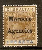 MOROCCO AGENCIES 1899 1p SG 15 MOUNTED MINT Cat £29 - Bureaux Au Maroc / Tanger (...-1958)