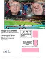1540r: Privatganzsache AK Postkarten-App: Fußball Österreich: Israel 2019 Ernst Happel Stadion - Israel