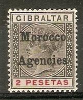 MOROCCO AGENCIES 1899 2p SG 16 LIGHTLY MOUNTED MINT Cat £60 TOP VALUE OF THE SET - Bureaux Au Maroc / Tanger (...-1958)