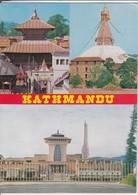 KATHMANDU - Multi View, Courtsy Department Of Tourism HMG,  Nice Stamp - Nepal