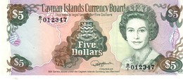Cayman Island P.12     5 Dollars 1991  Unc - Isole Caiman