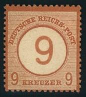 1872,  9 Auf 9 Kreuzer Großer Brustschild Ungebrucht - Mi-Nr. 30 * - Allemagne