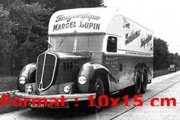 Reproduction D'une Photographie Ancienne D'un Camion Delahaye Frigorifique Marcel Lupin - Repro's
