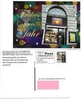 1540f: Privatganzsache AK Postkarten-App: A- 1010 Wien- Schottenring, Wiener Münzensalon, Weihnachtsgruß - Christmas
