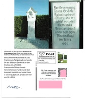 1540a: Privatganzsache AK Postkarten-App: A- 2301 Franzensdorf, Denkmal An Den Eisstoß - Gänserndorf