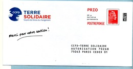 Marianne L'Engagée PRIO  TERRE SOLIDAIRE LOT 232193 - Entiers Postaux