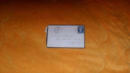 ENVELOPPE ANCIENNE DE 1856 ?...DIE A LYON...CACHETS + OBLITERATION PC + TIMBRE ANOTATION BLEU NOIR ?.. - Marcophilie (Lettres)