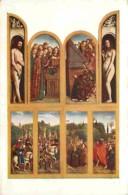 Art - Peinture Religieuse - Jan Van Eyck - Gand - Eglise-Cathédrale De St-Bavon - Volets Intérieurs Du Polyptyque : Ador - Schilderijen, Gebrandschilderd Glas En Beeldjes