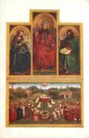 Art - Peinture Religieuse - Jan Van Eyck - Gand - Eglise-Cathédrale De St-Bavon - Centre Du Polyptyque: Adoration De L'A - Schilderijen, Gebrandschilderd Glas En Beeldjes