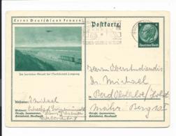 DR P 221 - 46 -  6 Pf Hindenburg Med. BiPo Langeoog Von Swinemünde N. Bad Oldesloe Bedarfsverwendet - Germania