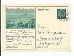 DR P 232 - 058 - 6 Pf Hindenburg Med. Grün, BiPo Juist V. Juist N. Braunschweig Bedverw - Germania