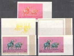 Guinee - Color Proofs - Buffalo - Hunting - Sin Clasificación