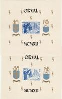 BELGIQUE 1941 BLOCS N°11 ET 12 ABBAYE D'ORVAL - NEUFS** -COTE : 45 EUROS. - Bloques 1924 – 1960