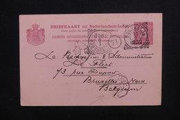 INDES NÉERLANDAISES - Entier Postal De Soerabaja Pour La Belgique En 1900, Cachet De Ligne Maritime - L 48634 - Nederlands-Indië
