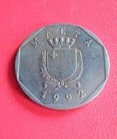 MALTE : 50 CENTS 1992    N° RA 601 - Malta